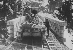 A Panzer 2 Ausf.C on a railway bridge near the tunnel in Norway Panzer Ii, Army Vehicles, Us History, Luftwaffe, North Africa, World War Ii, Wwii, Norway, Monster Trucks