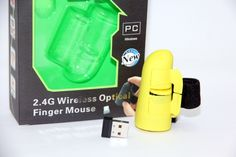 Mouse Jari Wireless – Finger Mouse Wireless Yellow 125.000