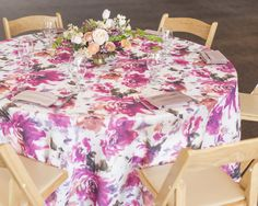 NEW Spring Linen Additions ... Renoir Pink & Purple Floral - Photo by Amy K Graves Photography #AmyKGraves www.amykgravesphotography.com