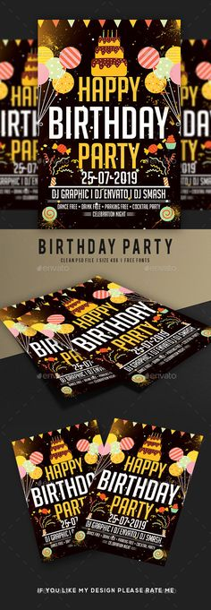 Birthday Flyer Party flyer, Flyer template and Birthdays - birthday flyer template