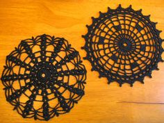Halloween Spider Web Coaster Set, with Patterns by doilydeas on deviantART