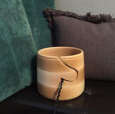 Large Hand Turned Maple Yarn Bowl