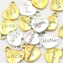 10pcs Antique Golden Tone Daughter Mom Grandma Charms Pendants for Jewelry…