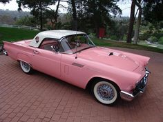 1957 Ford Thunderbird, I really, really want this extremely cool & pink car, really!!!