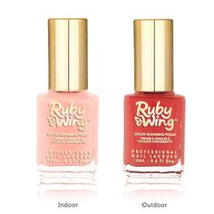Ruby Wings - Nail polish that changes color in the sunlight and then back when indoors. Perfect for people who get bored easily with their nails  #wedding #nails