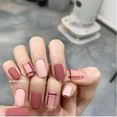 Those with nails It's a long time So I think that design time was already fast in September? - # Check Nail The source of design use is manners March event (see feed) - Matte Acrylic Nails, Pink Gel Nails, Toe Nails, Classy Nails, Stylish Nails, Trendy Nails, Korean Nail Art, Korean Nails, Minimalist Nails
