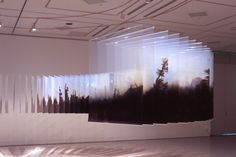 In Layer Drawings, an eye-catching series of installation art, Japanese artist Nobuhiro Nakanishi plays with perspective by chronologically stacking landscape photos on glass. Photo Sculpture, Sculpture Art, Sculptures, Photo Arrangement, Lights Artist, Colossal Art, To Infinity And Beyond, Japanese Artists, Landscape Photos