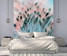 Eco-Friendly Canvas Wallpaper Light as a feather - deco Dream Bedroom, Master Bedroom, Sofa, Reno, Interior Inspiration, New Homes, Sweet Home, Tapestry, Interior Design