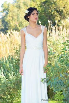 Loren Boho wedding dress Romantic wedding dress by TheBride2B