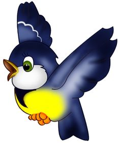 Blue bird cartoon clip art Images on a transparent background Cartoon Birds, Cartoon Images, Cute Cartoon, Vogel Clipart, Bird Clipart, Animal Crafts For Kids, Animal Projects, Pencil Drawings Of Animals, Cartoon Drawings