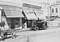 Λεωφόρος Δημοκρατίας το 1928 - αντιπροσωπεία αυτοκινήτων Ford