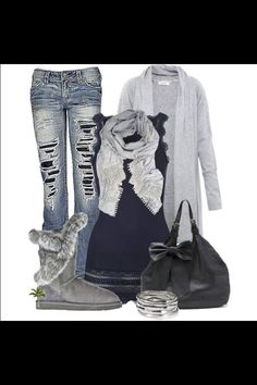 Outfit #13 Black/grey Fall/Winter