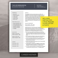 A personal favorite from my Etsy shop https://www.etsy.com/ca/listing/271055057/modern-resume-template-resume-cover