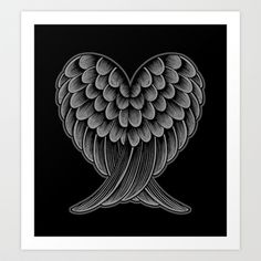 Buy Heart Wings [Reversed Version] by Rachel Caldwell as a high quality Art Print. Worldwide shipping available at Society6.com. Just one of millions of…