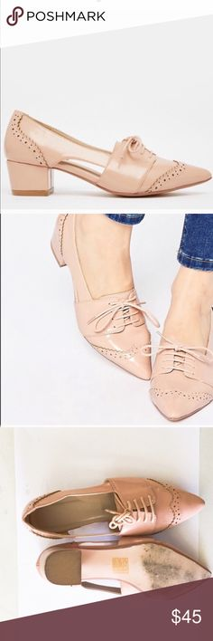 ASOS Oxford low heel shoes U.K. 4-US 6. Worn twice ASOS Shoes