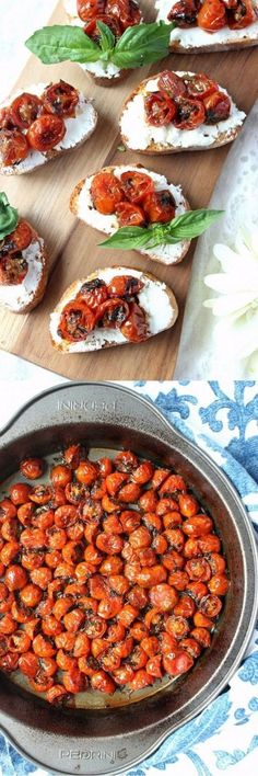 An easy appetizer that everyone will love, this delicious Red Wine Cherry Tomato & Goat Cheese Crostini will impress your guests and their taste buds! It's absolutely fantastic made and paired with a Missouri Norton dry red wine which goes particularly well with tomatoes and goat cheese! {wine glass writer}
