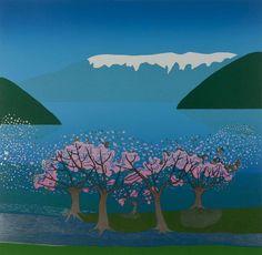 Blossom in the Hardanger fjord by Norwegian artist Jarle Rosseland, 2008.