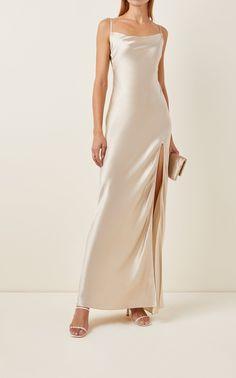 Silk Formal Dress, Long Slip Dress, Silk Satin Dress, Satin Slip, Satin Dresses, Silk Satin Fabric, Slip Dress Outfit, Dress Outfits, Slip Wedding Dress