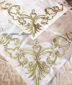 Indian Designer Outfits, Hand Embroidery Designs, Cross Stitch Designs, Embroidered Flowers, Baroque, Machine Embroidery, Sewing, Handmade, Vases