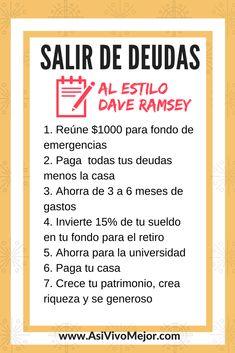 ¿Estás listo para salir de #deudas y darle un giro de 180 grados a tu vida? Aprende cómo #vivirsindeudas estilo Dave Ramsey en este episodio de #AsiVivoMejor #Podcast #finanzaspersonales #latinos #espanol #dinero #daveramsey #finanzas