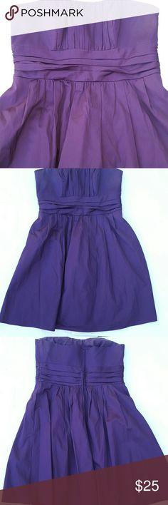 👜👜David's Bridal size 14 strapless dress Strapless eggplant color zip up back very cute dress davids bridal Dresses