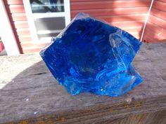 Slag Cullet Glass Rock Ocean Blue 2.10 lb Q96 Rocks Landscaping Deco Aquarium #ManMade