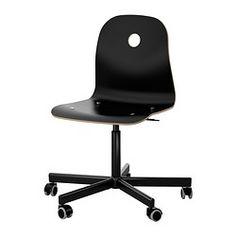 IKEA - VÅGSBERG / SPORREN, Kontorstol, sort,  , , Kan indstilles i højden, så du sidder behageligt.