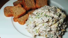 LEMON HERB CHICKEN SALAD - Chicken salad is one of those recipes that can have many variations and each one has a delicious unique twist. This chicken salad gets a boost from the fresh squeezed lemon juice and fresh tarragon. Serve as an appetizer dip or spread on your favorite bread as a sandwich. Either way, you'll find a new recipe for your family to love.