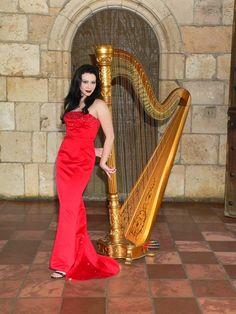 Harpist extraordinaire, AnnaLisa Underhay at the Spanish Monastery in Miami Florida @spanishmonastery @theelegantharp #miamiwedding #spanishmonasterywedding #luxurywedding #musician #floridaharpist