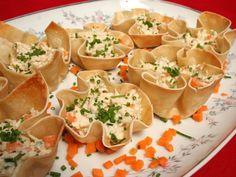 Confira como fazer Cestinha de Massa de Pastel com recheio de frango cremoso