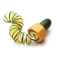 Cucumbo-Spiral slicer. Now isn't this a cool little gadget:)
