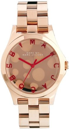Marc By Marc Jacobs Henry Gloss Pop Rose Gold Watch