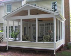Screened porches are the perfect outdoor living space. Plus, they add value to your home. Contact Structurally Speaking for your free quote today. Back Porches, Enclosed Porches, Decks And Porches, Front Porch, Front Deck, Outdoor Rooms, Outdoor Living, Outdoor Patios, Outdoor Kitchens