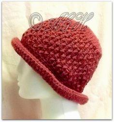 AG Handmades: Rolled-Brim Textured Chemo Hat