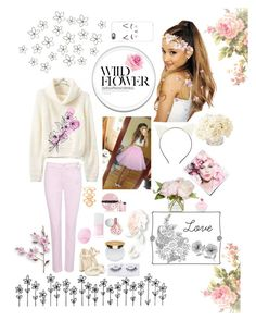 """""""Pink Flowers"""" by fangirl9 ❤ liked on Polyvore featuring NYDJ, Monsoon, ASOS, Eos, Christian Dior, Prada, Isaac Mizrahi, Ardell, Charlotte Russe and Casetify"""