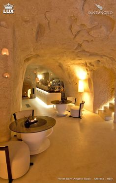 Ancient Cave Town Matera in Southern Italy Places Around The World, Around The Worlds, Cave Hotel, Italy Holidays, Southern Italy, Tenerife, Hotels And Resorts, Luxury Resorts, Restaurant Design