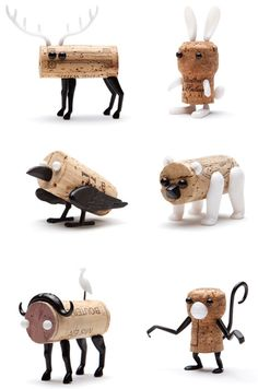 Found these super cute animal decorations for your cork by Monkey Business. This would be great when you go to a friends house with a bottle of wine.