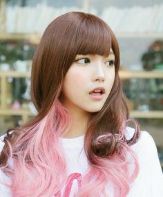 bi color hair style