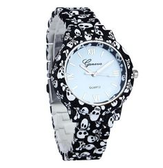 Fashion Simulated-Ceramics Skull/Flower Printed Watch – LOPAYA