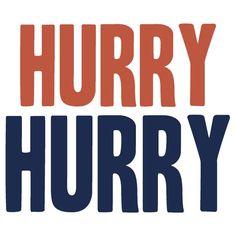 HURRY HURRY!  (Denver Broncos, Peyton Manning)
