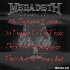 Lyric Art of Train Of Consequences by Megadeth