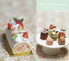 Christmas Pastries by Nunu's House for miniature dollhouse bakery.