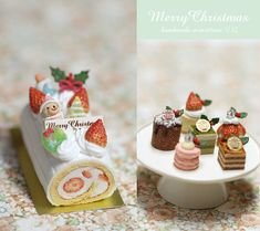 Christmas Pastries by Nunu's House for miniature dollhouse bakery.