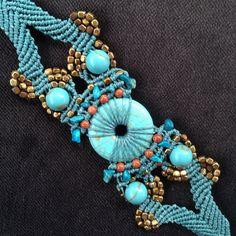 Capri Handcrafted Macramé Bracelet by Jo by MamamacrameJewellery