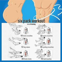 Want Six-Pack Abs? Try These Ab Exercises! Healthy Fitness Train - Yeah We Train ! Tap the link and Check out why all Fitness addicts are going crazy about this new product! Fitness Workouts, At Home Workouts, Fitness Tips, Fitness Motivation, Health Fitness, Workout Tips, Fitness Foods, Six Pack Abs Workout, Six Pack Abs Men