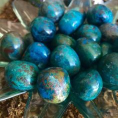 Tumbled natural chrysocolla - freedom, expression of the sacred feminine, finding your soul purpose - connects heart and throat chakras by TheSageGoddess on Etsy https://www.etsy.com/listing/226002380/tumbled-natural-chrysocolla-freedom