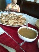 Pechuga de pollo en salsa de cebolla