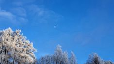 Look to the moon, winter is coming Winter Sky, Winter Is Coming, Moon, Clouds, Blue, Travel, Outdoor, The Moon, Outdoors