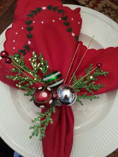 Christmas napkin rings, 2013