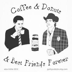 Coffee & Donuts & BFF - Small Print. $6.00, via Etsy.